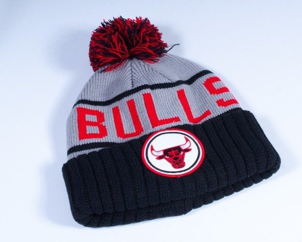 MITCHELL & NESS CZAPKA ZIMOWA KJ46Z CHICAGO BULLS GREY