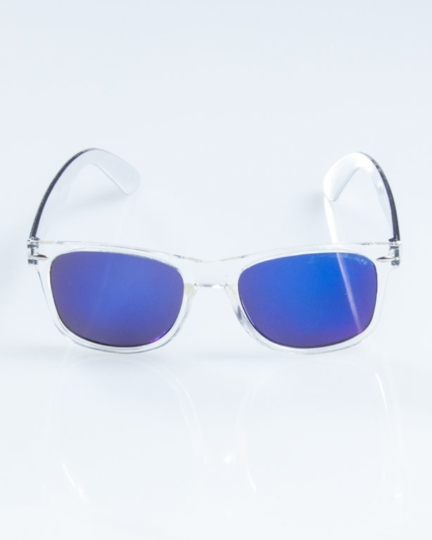 NEW BAD LINE OKULARY CLASSIC CLEAR INOX 854
