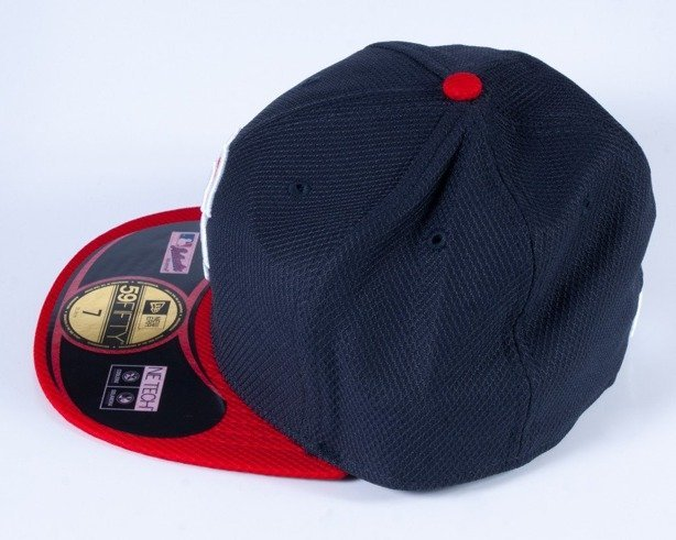 NEW ERA CZAPKA FULL CAP DIAMOND BOSTON NAVY-RED
