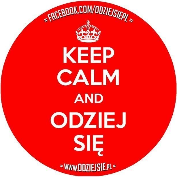ODZIEJSIE WLEPKA KEEP CALM RED