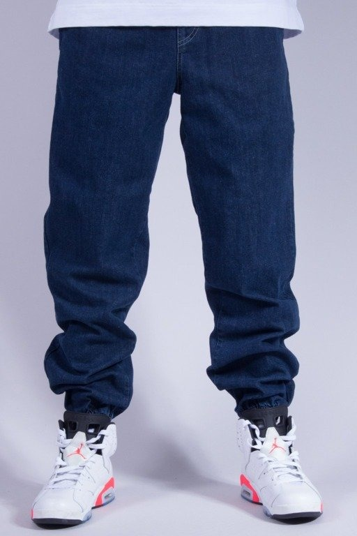 OPONENT SPODNIE JEANS JOGGER BLUE