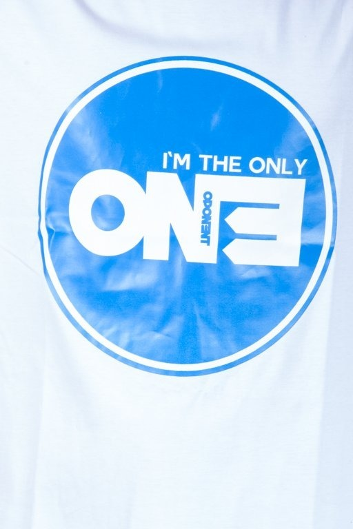 OPONENT T-SHIRT ONLY ONE WHITE-BLUE