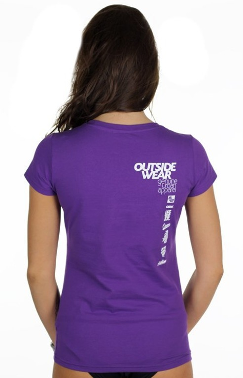 OUTSIDEWEAR T-SHIRT WOMAN CLASSIC VIOLET