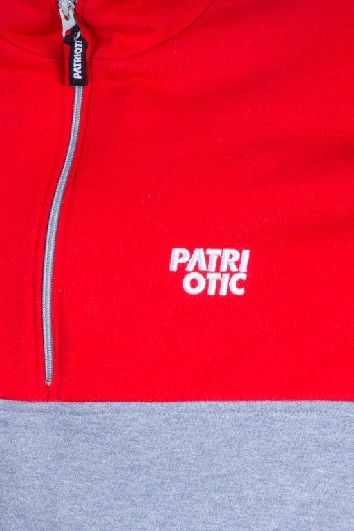 PATRIOTC BLUZA Z KAPTUREM CLS RED-GREY