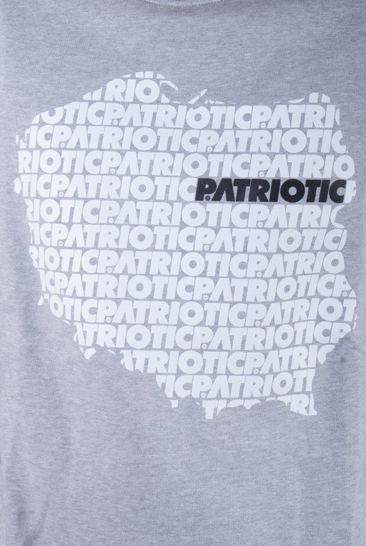 PATRIOTIC BLUZA BEZ KAPTURA MAP FONTS MELANGE