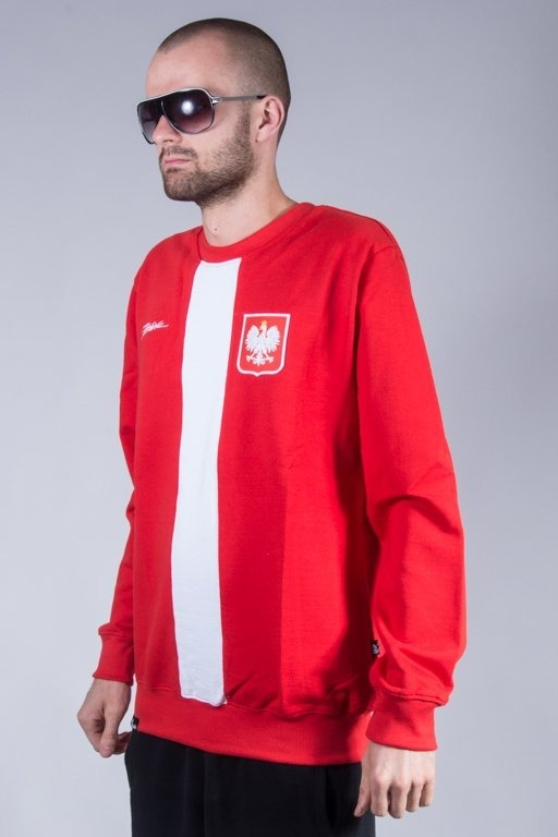 PATRIOTIC CREWNECK GODŁO TAG RED