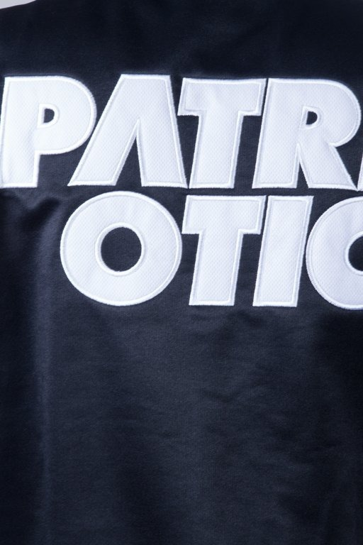 PATRIOTIC CREWNECK ZIP CLS POLI BLACK