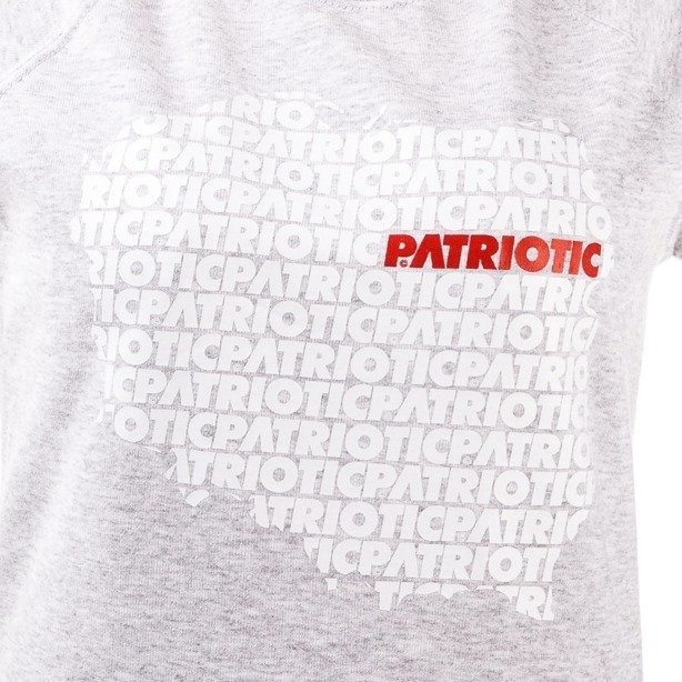 PATRIOTIC GIRL BLUZA BEZ KAPTURA MAP GREY