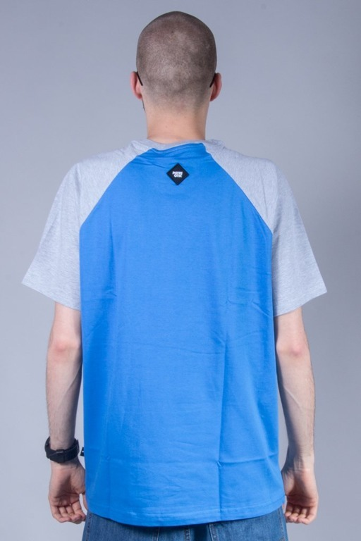 PATRIOTIC T-SHIRT BASE BLUE-MELANGE