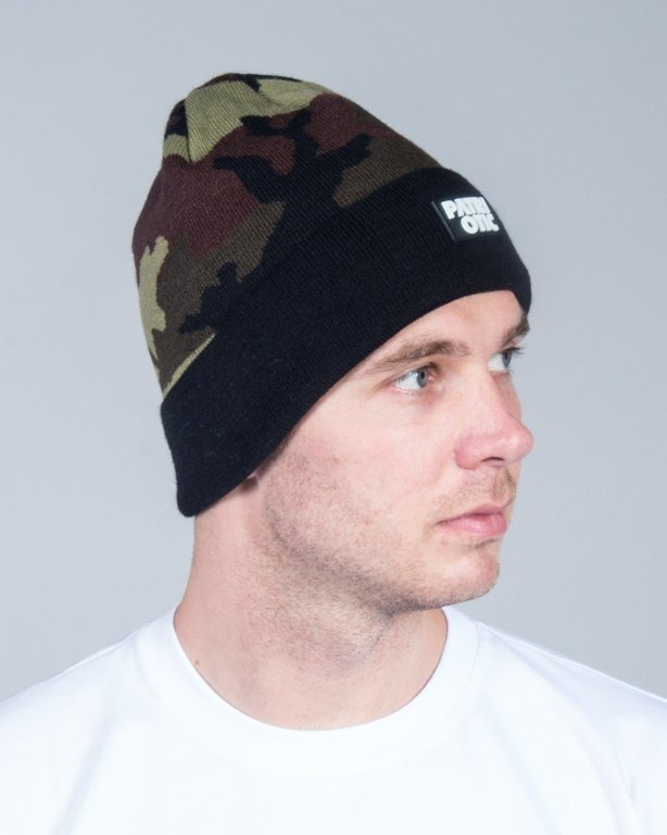 PATRIOTIC WINTER CAP CLS CAMO GREEN