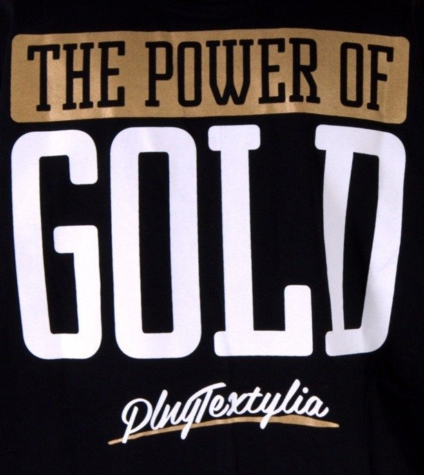 PLNY KOSZULKA POWER OF GOLD BLACK