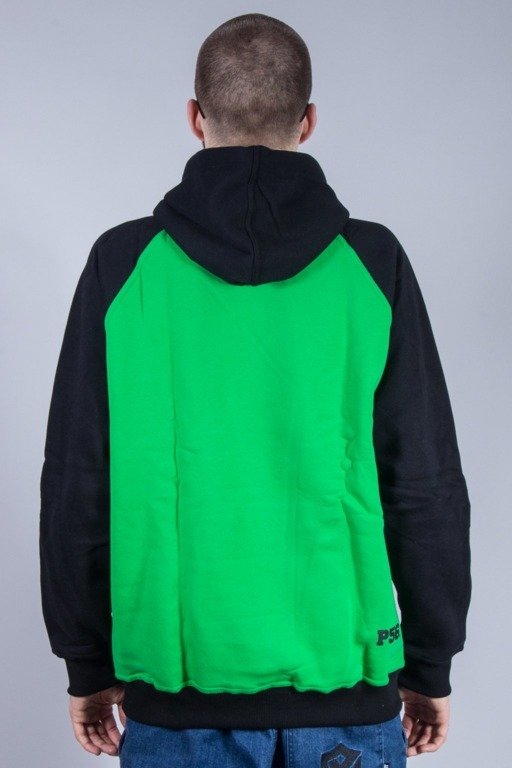 PROROK 56 BLUZA Z KAPTUREM P56 GREEN-BLACK