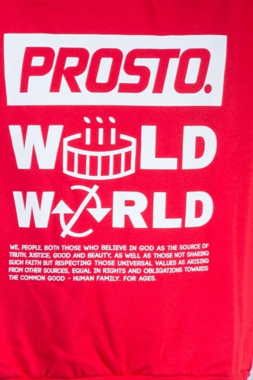 PROSTO BLUZA BEZ KAPTURA WILD WORD RED