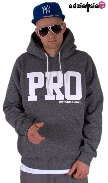 PROSTO BLUZA Z KAPTUREM ATHLETIC GREY