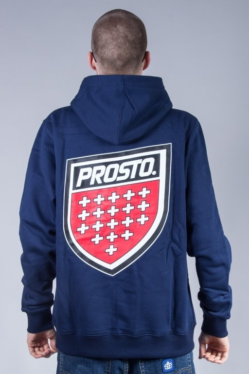 PROSTO BLUZA Z KAPTUREM BACKUP NAVY