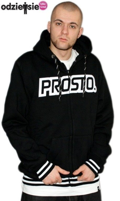 PROSTO BLUZA Z KAPTUREM ZIP PRIMARY BLACK