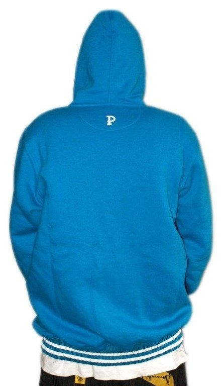 PROSTO BLUZA Z KAPTUREM ZIP PRIMARY BLUE