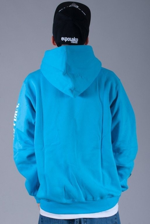 PROSTO BLUZA Z KAPTUREM ZIP RUNNER BLUE