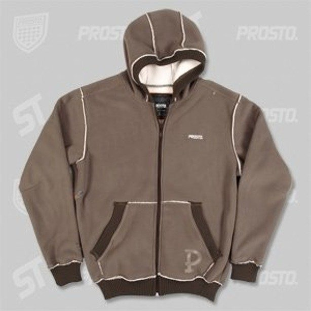 PROSTO BLUZA ZIP HOODY POLAR BROWN