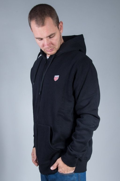 PROSTO CREWNECK ZIP BASIC BLACK