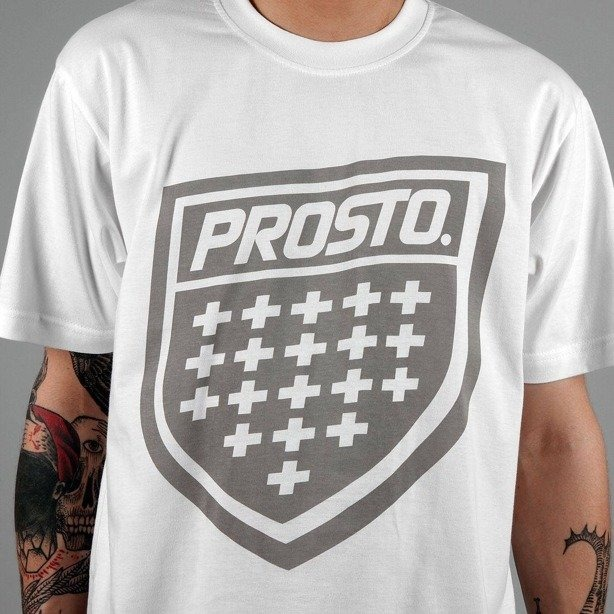 PROSTO KOSZULKA BASIC SHIELD WHITE