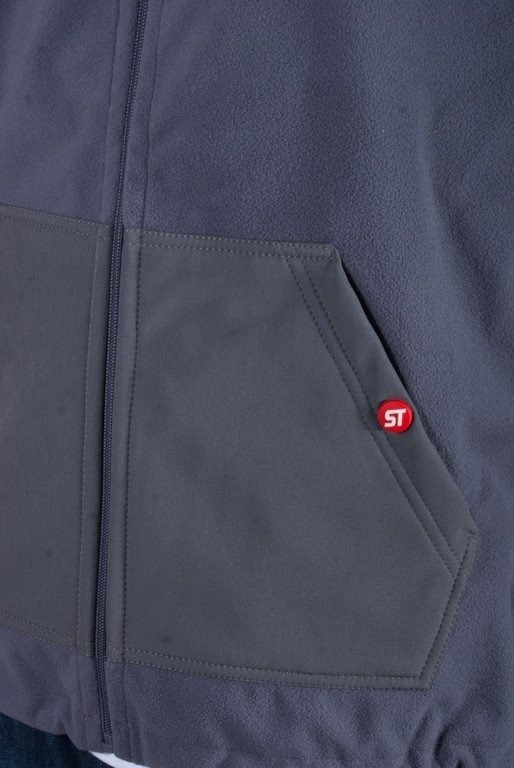 PROSTO KURTKA SOFTSHELL BASIC GREY