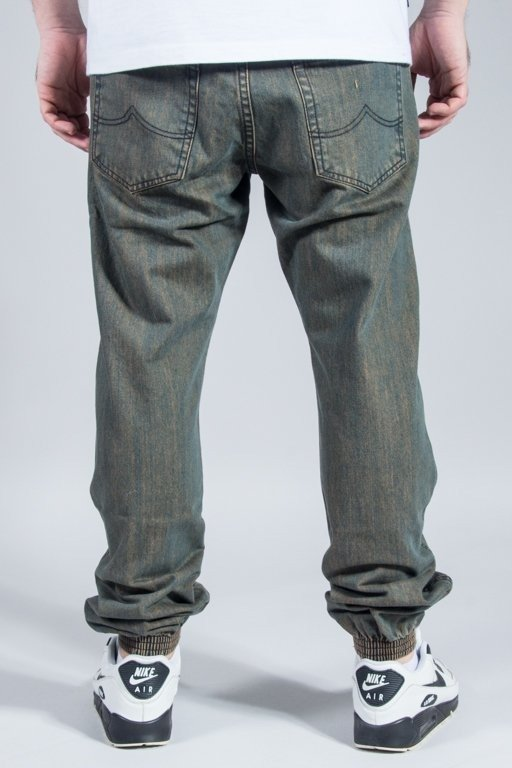 PROSTO PANTS JEANS JOGGER REGULAR YELLOW WASH
