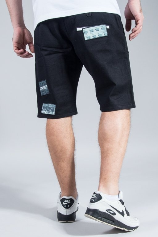 PROSTO SHORTS CHINO CONTACT BLACK