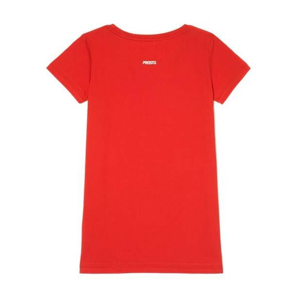 PROSTO T-SHIRT WOMAN ASSIST RED