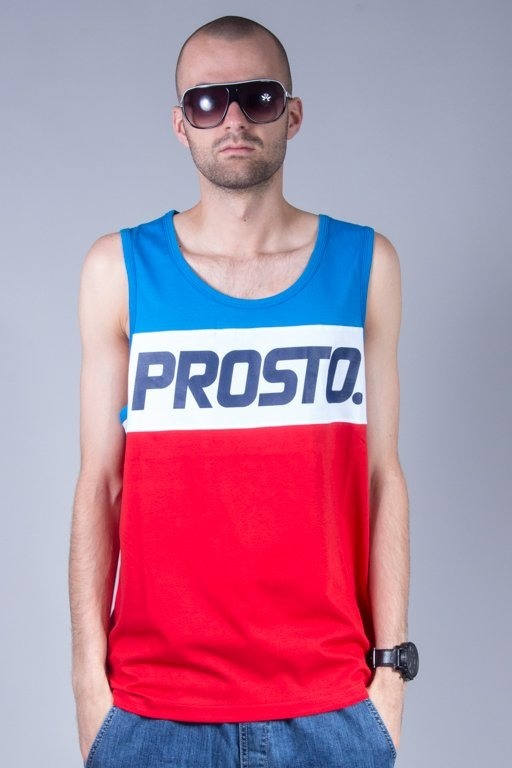PROSTO TANK TOP DIVIDE BLUE-RED