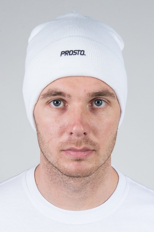 PROSTO WINTER CAP BASIC WHITE