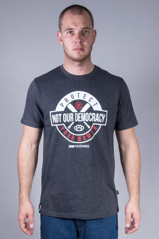 SLAVA REPUBLIC T-SHIRT ZERO TOLERANCE GREY