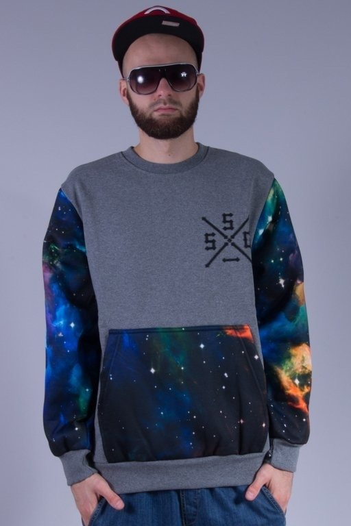SSG BLUZA BEZ KAPTURA COSMOS SLEEVES GREY