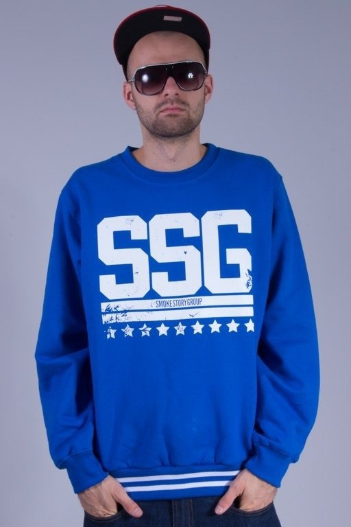SSG BLUZA BEZ KAPTURA DAMAGE BLUE