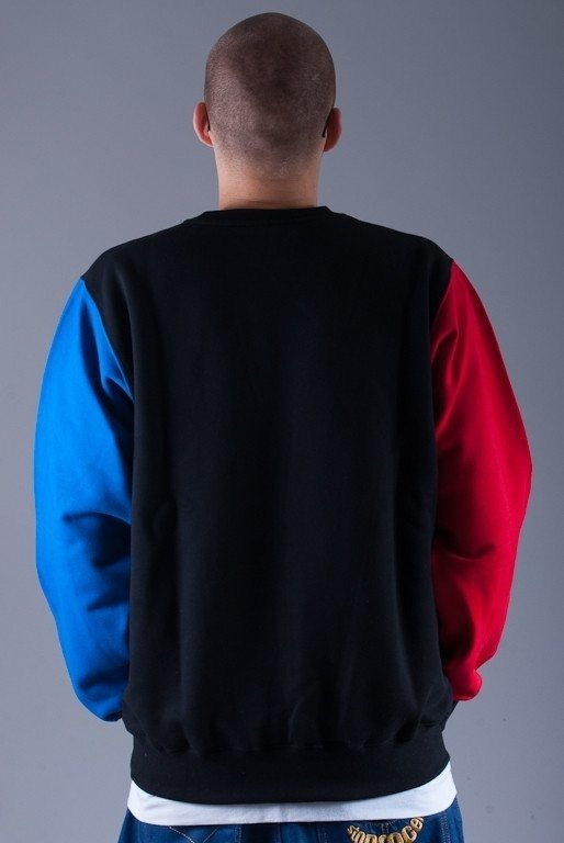 SSG BLUZA BEZ KAPTURA MIRROR BLACK-BLUE-RED