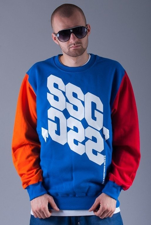 SSG BLUZA BEZ KAPTURA MIRROR BLUE-ORANGE-RED