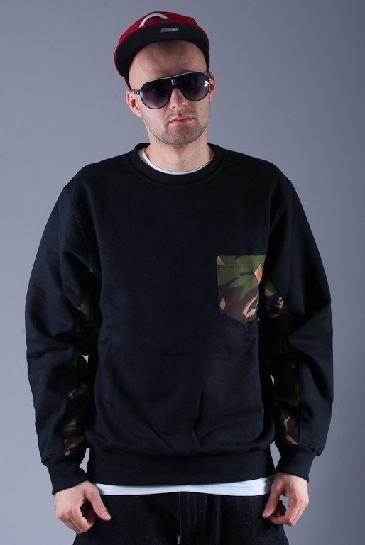 SSG BLUZA BEZ KAPTURA POCKET CAMO BLACK