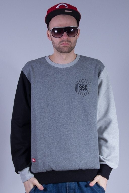SSG BLUZA BEZ KAPTURA SIGN GREY