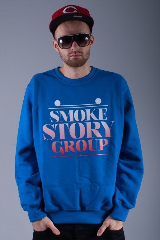 SSG BLUZA BEZ KAPTURA SMOKE GRADIENT BLUE