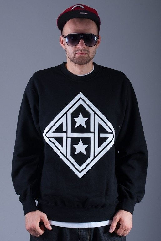 SSG BLUZA BEZ KAPTURA STAR BLACK