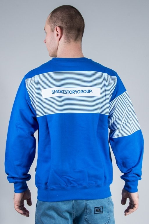 SSG BLUZA BEZ KAPTURA STRIPES BLUE
