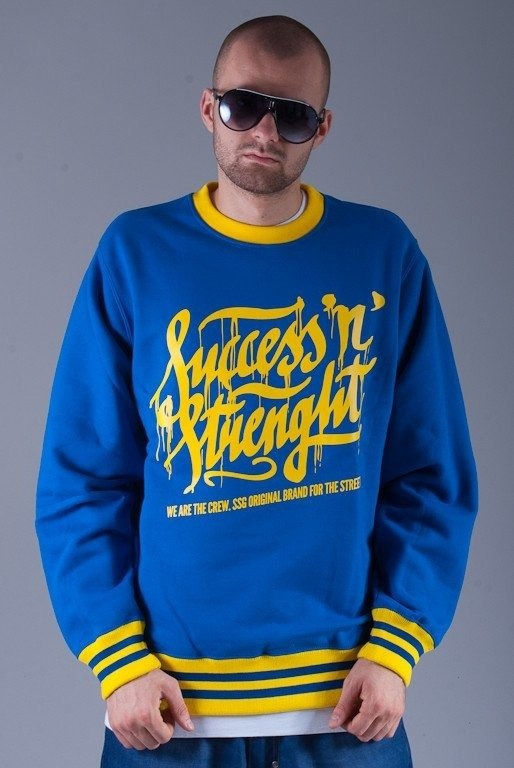 SSG BLUZA BEZ KAPTURA SUCCESS BLUE-YELLOW