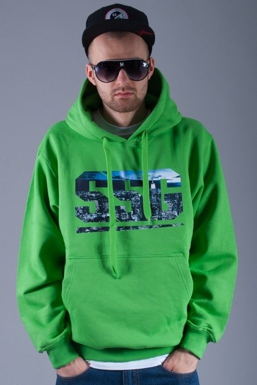 SSG BLUZA Z KAPTUREM PHOTO GREEN