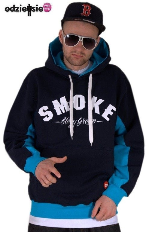 SSG BLUZA Z KAPTUREM SMOKE BLACK-BLUE