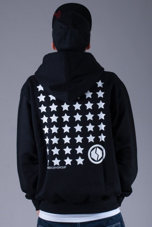 SSG BLUZA Z KAPTUREM ZIP MULTISTARS BLACK