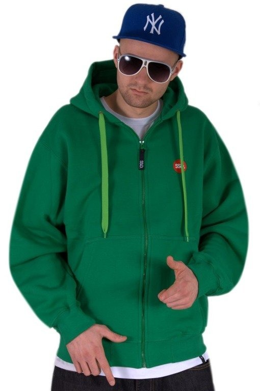 SSG BLUZA Z KAPTUREM ZIP NEW BIG GREEN