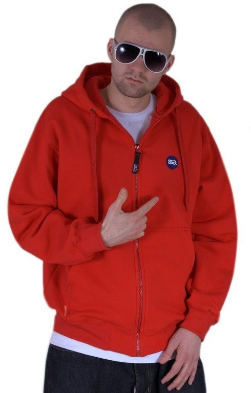 SSG BLUZA Z KAPTUREM ZIP NEW BIG RED