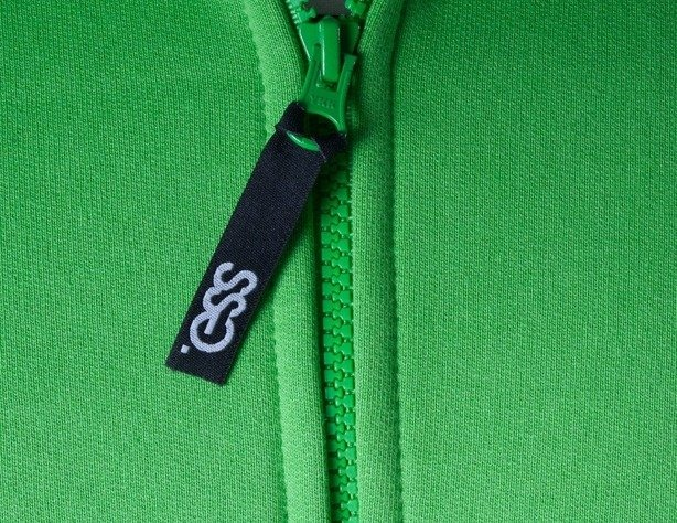 SSG BLUZA Z KAPTUREM ZIP SMGROUP BACK GREEN