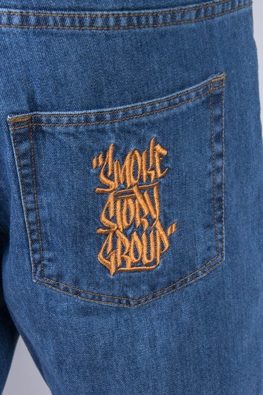 SSG JEANS BAGGY SMOKE TAG LIGHT