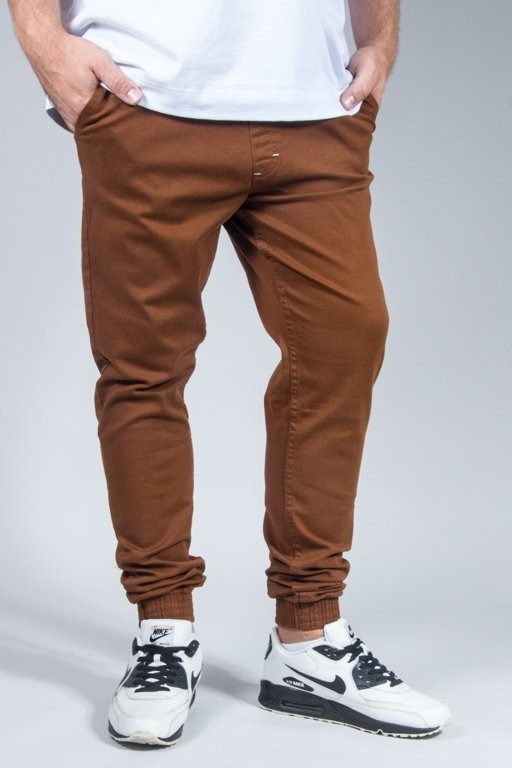 SSG PANTS CHINO JOGGER SLIM KLASYK BROWN